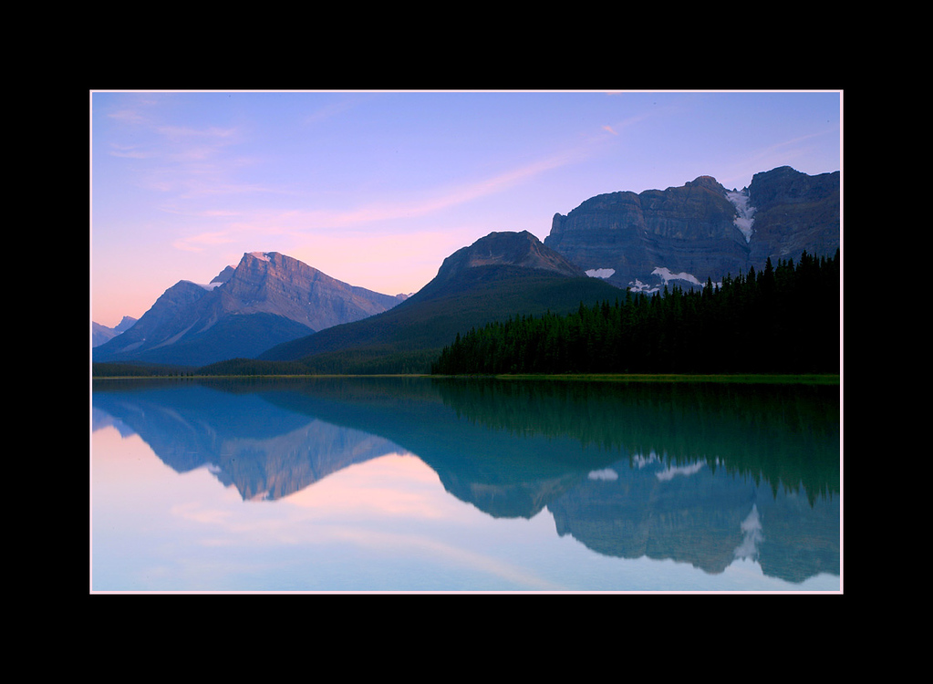Reflections, Upper Waterfowl Lake, Banff National Park