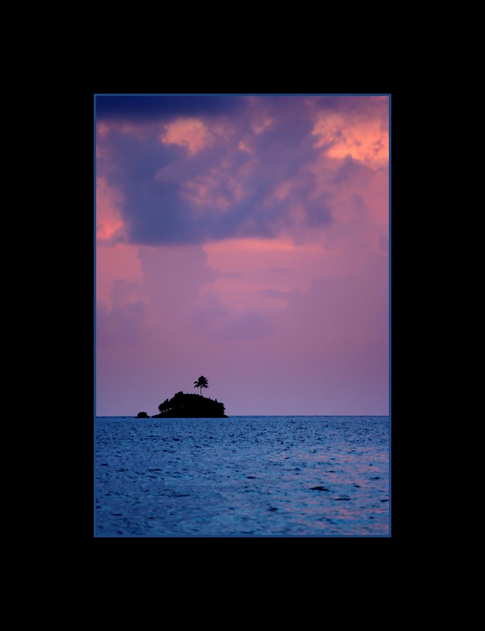 Leper Island at Sunset, Palau, Micronesia