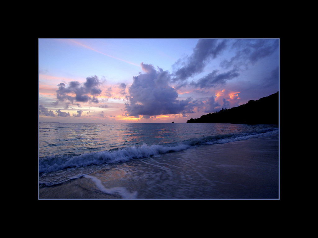 Sunset from the beach, Palau