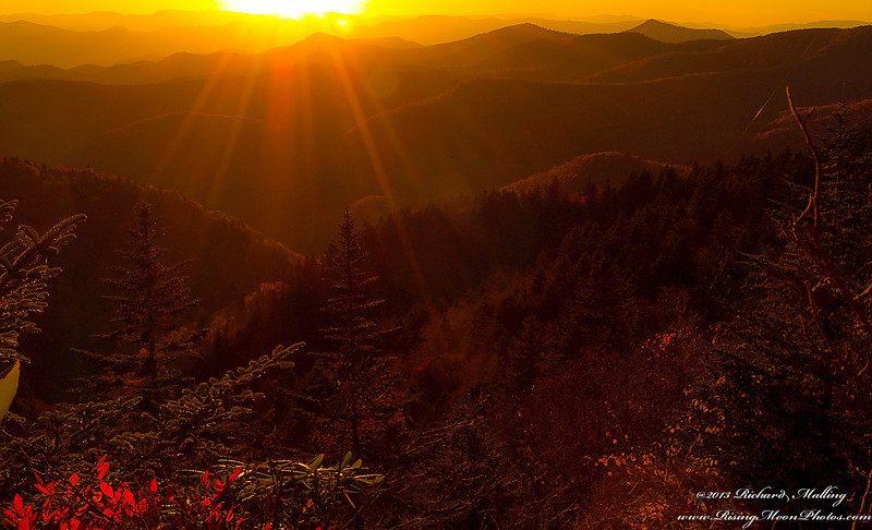 Fall Sunset Along The Blueridge Mountains