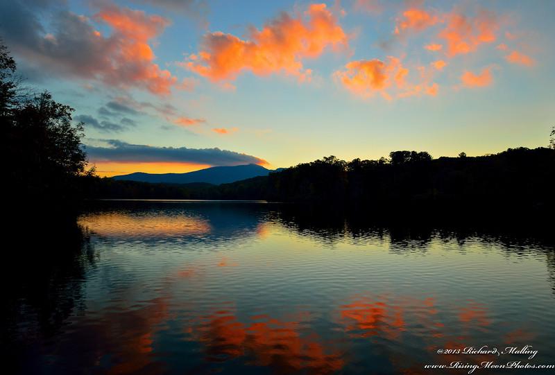 Price Lake NC Fall Sunset 2013