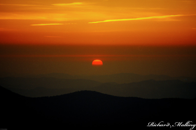 Sunset From Mt Mitchell NC