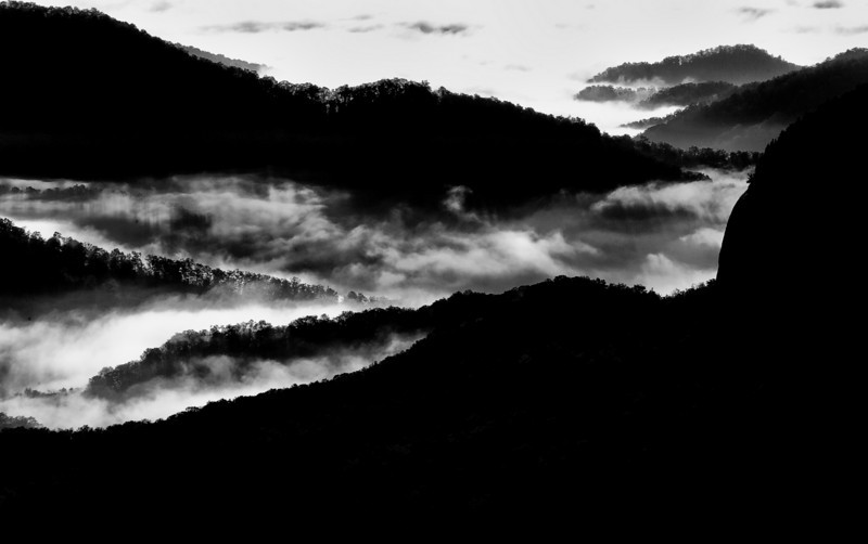 Looking Glass Rock In B&W