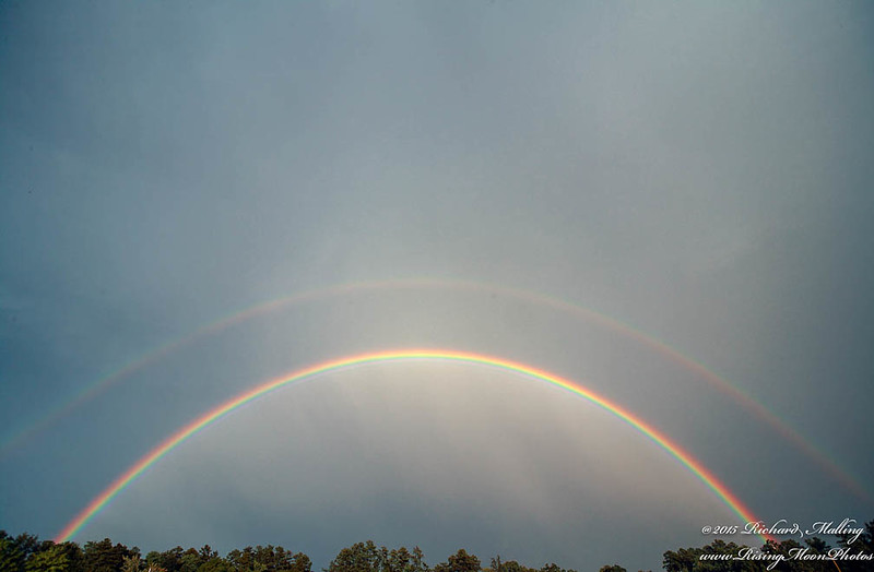 Double Rainbow Over Chapel Hill NC