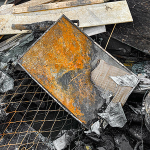 Burned Picture Frame, Portland, 2021