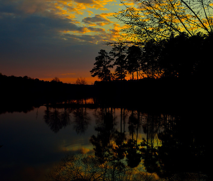 Setting Sun Reflections_