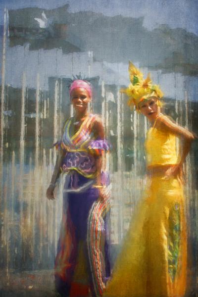 Cuban Stilt Walkers