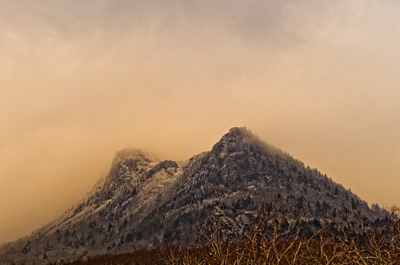 Sunset In The Snow-Grandfather Mountain NC