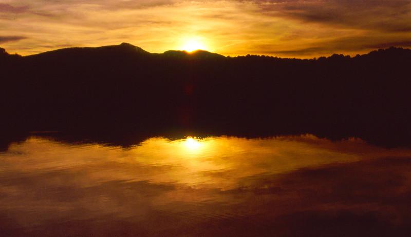Sunset In Winter At Price Lake