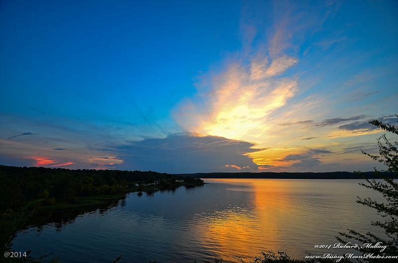 Jordan Lake NC Sunset