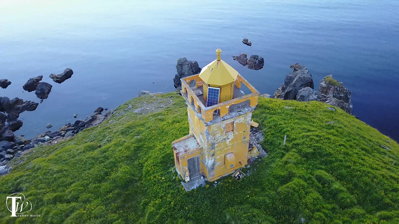 A rare look at the back of the ancient Islandic lighthouse