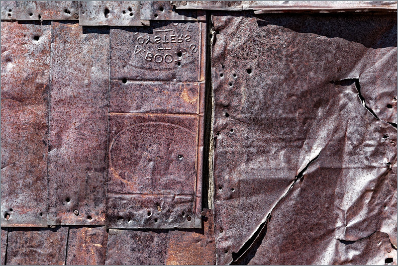 Bodie, CA: detail, metal sttucture, #7074-7DII