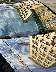 Car Reflection, Portland, 2021