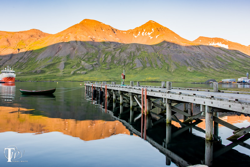 The dock next to the Siglo Hotel Iceland