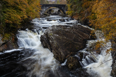 The falls and bridges at Invermoriston, Highland, Scotland