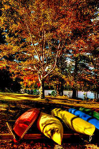 Canoes at Adirondack Loj