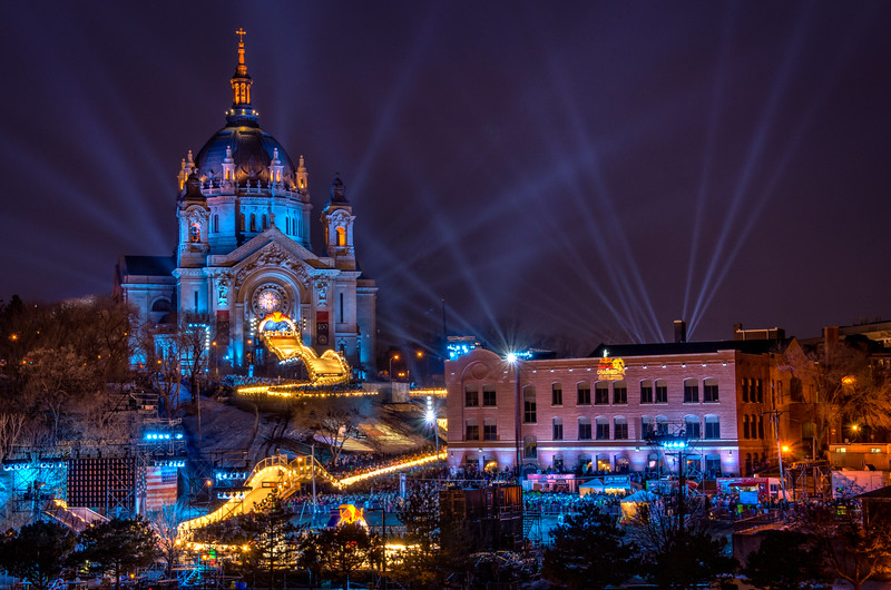 St Paul hosts the Red Bull Crashed Ice event