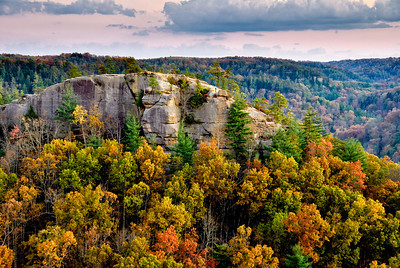 Autumn Sunset Red River Gorge Kentucky