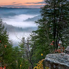 Morning Fog at Red River Gorge<br /> Eastern Kentucky