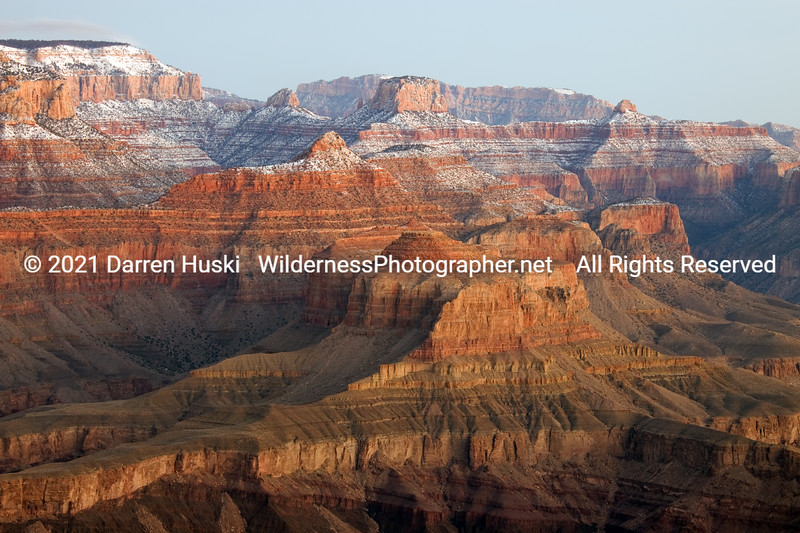 Grand Canyon on winter morning.