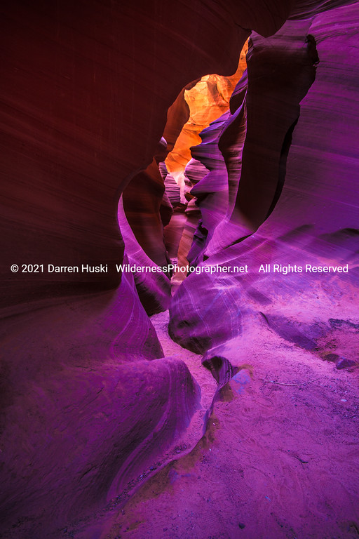 Crawling through Lower Antelope Canyon