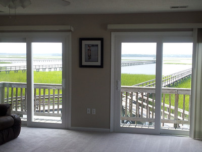 Marsh view from living area