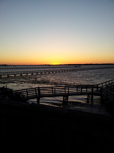 Gorgeous sunset at high tide from our dock