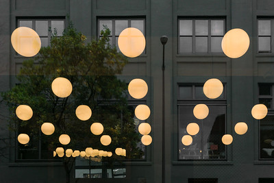 Restaurant Lights and Reflections, Portland, 2015