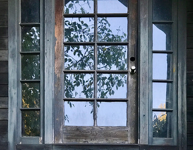 Door & Tree Reflection, San Juan Island, 2020