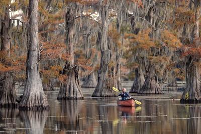 Me in a canoe