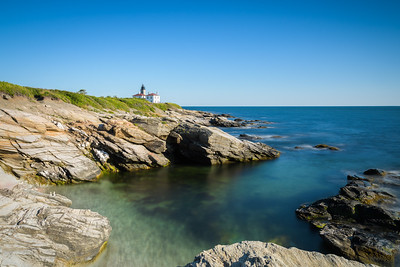 Beautiful cove overlooking Beavertail Lighthouse