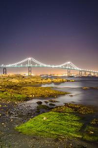 Newport Bridge Under The Stars