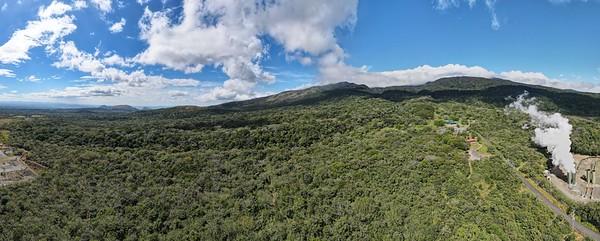Aerial View of the Rincon de La Vieja Volcano in Costa Rica