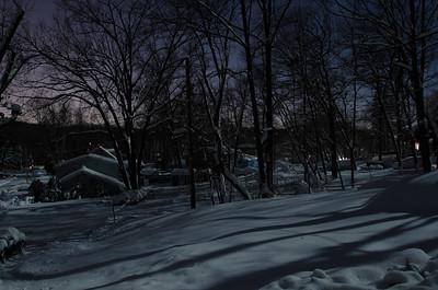 Snow Storm under Full Moon