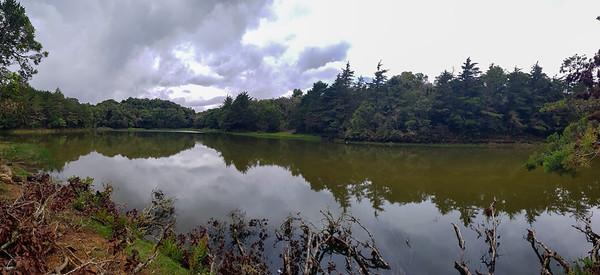 Laguna don Manuel in Dota, Costa Rica - lake in the mountains