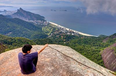 View of São Conrado Beach from Pedra Bonita,  Rio de Janeiro,  Brazil