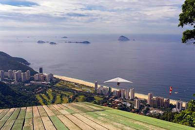 Hang Gliding over São Conrado Beach, Rio de Janeiro, Brazil