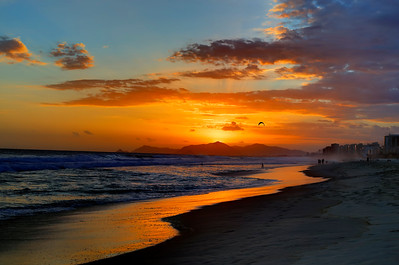 Sunset on Barra Beach, Rio