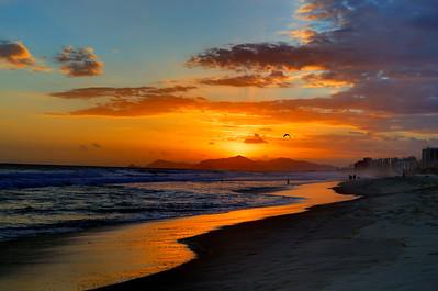 Sunset on Barra Beach, Rio