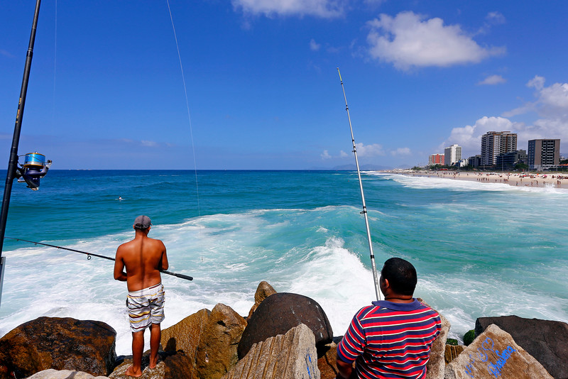 Fishing at Pepe Beach, Barra, Rio