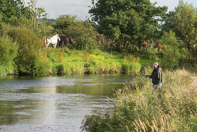 Fishing  the upper stretches of the River Bush Co Antrim