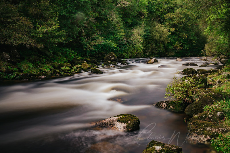 a long exposure shot taken on the river dart