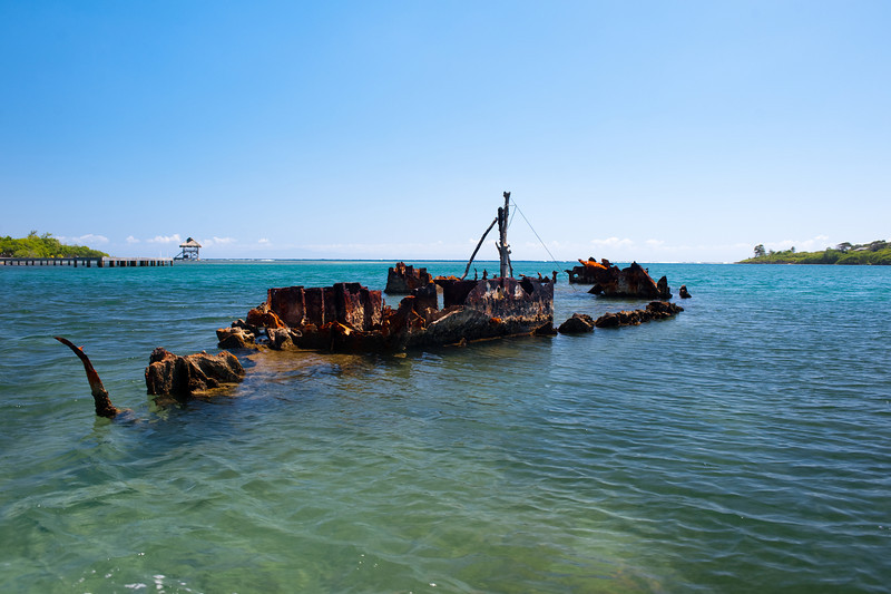 An old shipwreck.