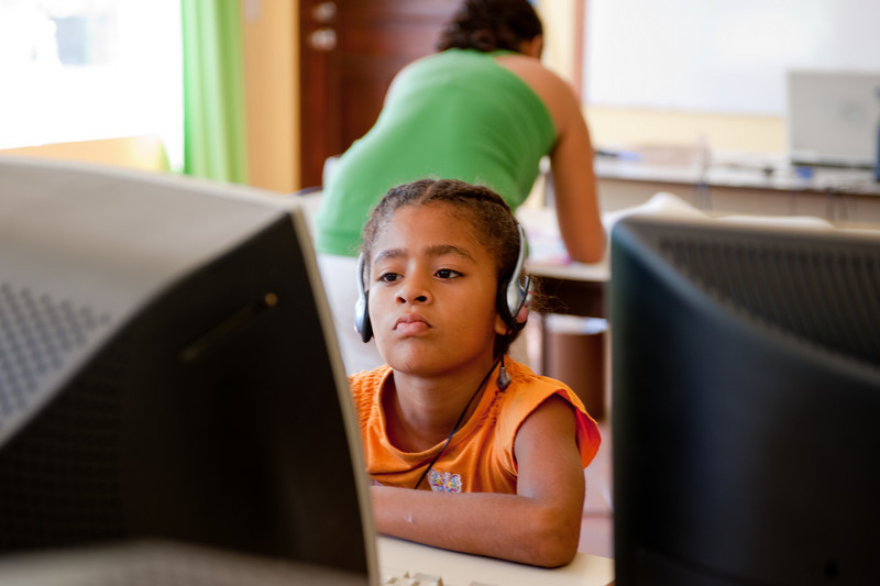 These children were learning computer skills at the Jerry Hynes Community center.