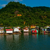 These houses are located in Oak Ridge on the island of Roatan.