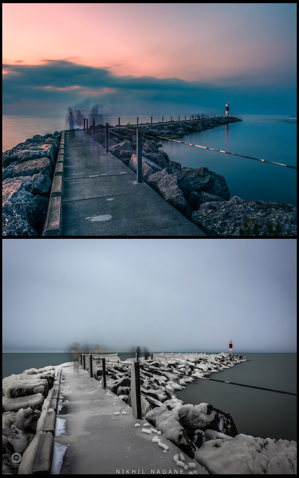 Changing seasons - Changing landscapes - Seabreeze pier