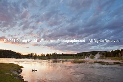 Yellowstone River at Sunset