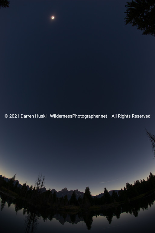 Eclipse Over the Tetons