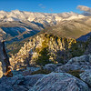 """Winter Hangs On"" - the Continental Divide from Deer Mountain, Rocky Mountain National Park, Colorado, USA"