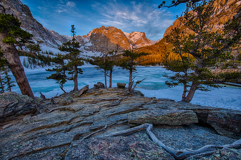 Winter Abides at The Loch, Rocky Mountain National Park